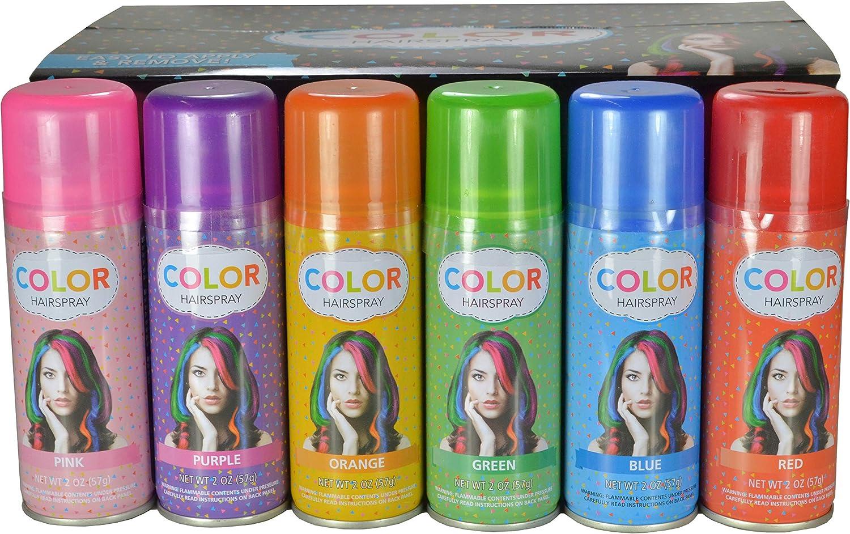 Temporary Hair Color Spray 12 oz   Case 12 Cans   12 Colors ...