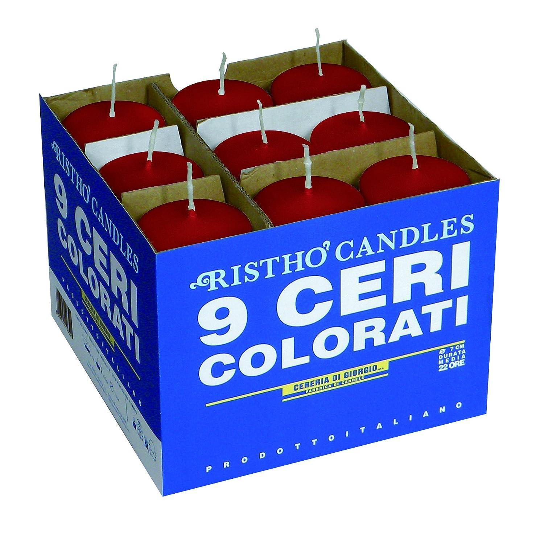 Cereria di Giorgio Risthò Ceri, Cera, Rosso, 5x5x12 cm, 9 unità CESZW 56201_14