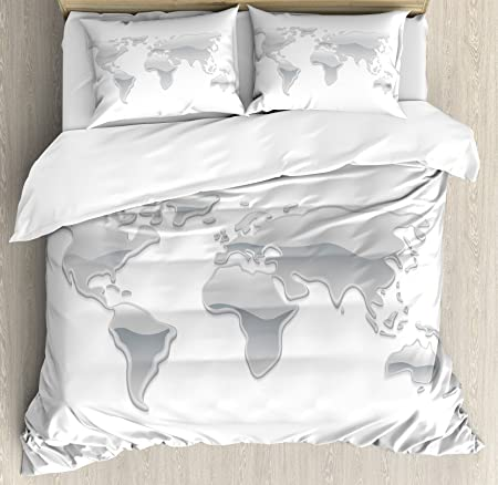 Wanderlust decor duvet cover set by ambesonne graphic design of wanderlust decor duvet cover set by ambesonne graphic design of world map made with liquid gumiabroncs Choice Image