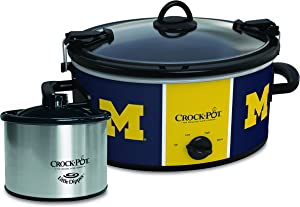 Michigan Wolverines Collegiate Crock-Pot Cook & Carry Slow Cooker with Bonus 16-ounce Little Dipper Food Warmer