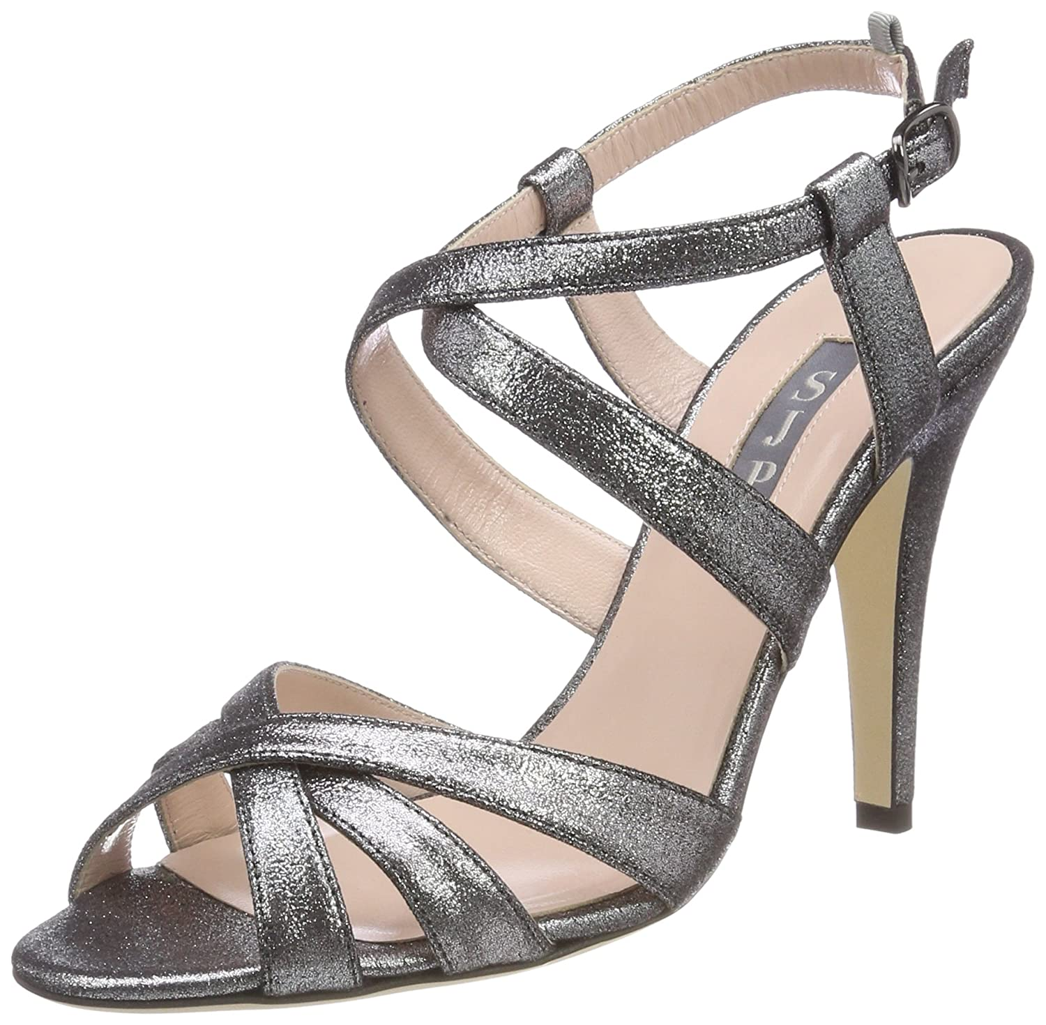 SJP Sandales by (Anthracite Sarah B07B3Y97WN Jessica Parker Teegan, Sandales Femme Gris (Anthracite Stardust) 59c44ad - therethere.space