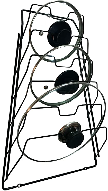 Amazon Com Wall Pot Lid Rack Holder Organizer For Kitchen Cabinet