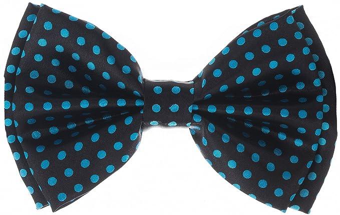 30a3e4a630a8 Amazon.com: Bowtie - Polka Dot - Black with Blue Dots: Clothing