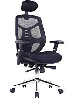 Eliza Tinsley Mesh High Back Executive Swivel Desk Armchair With Chrome  Base   Black