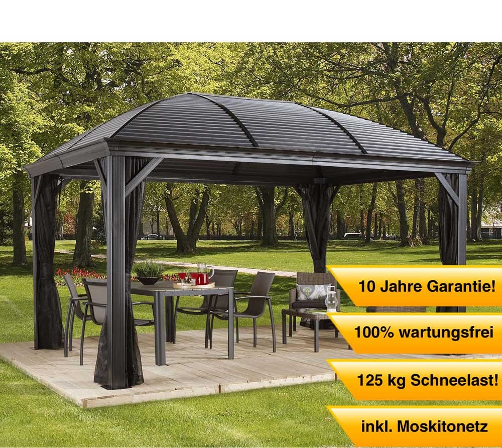aluminium pavillon berdachung gazebo moreno 298x423 cm bxh sommer pavillon und. Black Bedroom Furniture Sets. Home Design Ideas