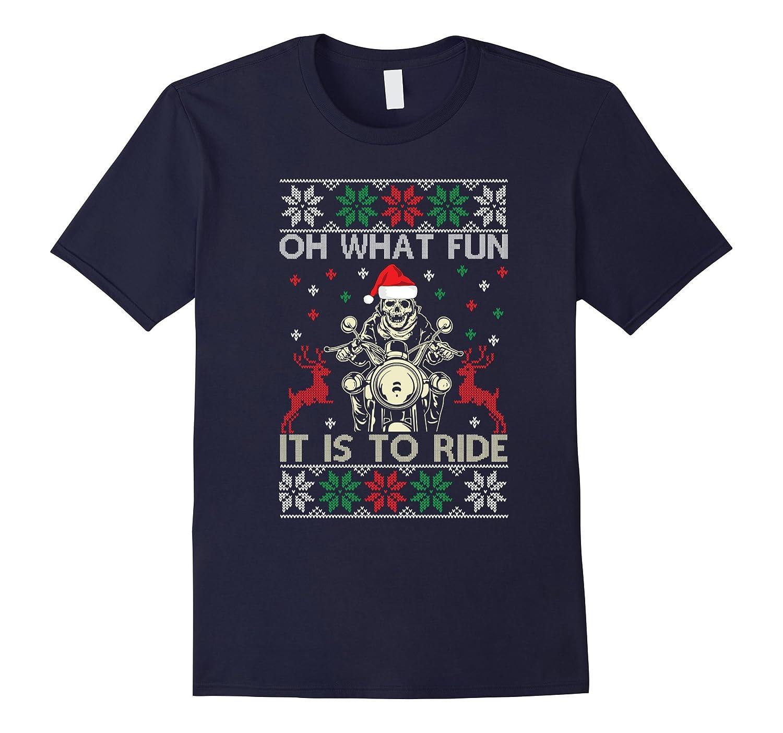 Biker Christmas.Biker Christmas Oh What Fun T Shirt Anz