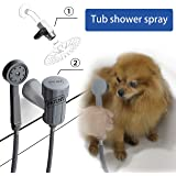 YOO.MEE Tub Spout Shower Sprayer, Only For Use On Tub Spout With Diverters, Ideal for Bathing Child, Washing Pets and Cleaning Tub
