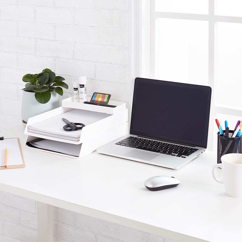 bianco colore Mezza vaschetta portaoggetti Basics Plastic Organizer
