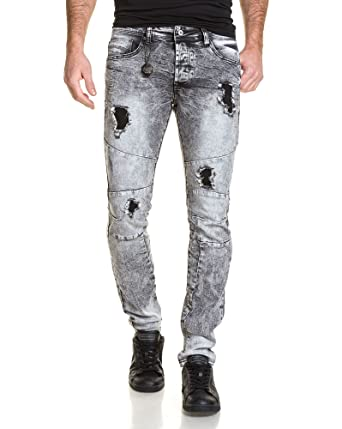 X Délavé Destroy Foncé Project Gris Jeans Homme z6dTq