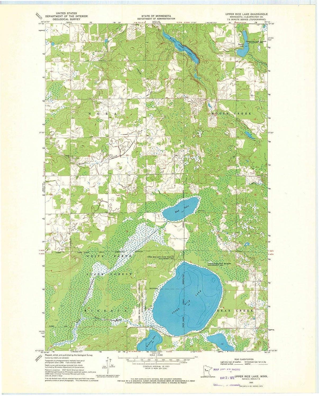 Red Lake Minnesota Map.Amazon Com Minnesota Maps 1969 Upper Rice Lake Mn Usgs