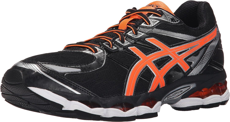 Asics Gel-Evate 3 Fibra sintética Zapato para Correr, Black-Hot Orange-Silver, 15 D(M) US: Asics: Amazon.es: Zapatos y complementos