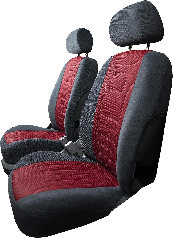 Rimers Vordersitzbezüge Stripes Rot Universal Autositzbezüge Sitzbezüge Schonbezüge Auto