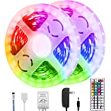 Briignite Led Strip Lights, 32.8ft RGB Led Light Strip 5050 Led Tape Lights, Color Changing Led Strip Lights with Remote…
