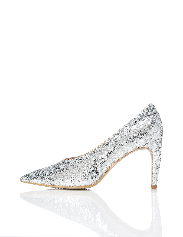 FIND Silber Damen Glitter Court Pumps Silber FIND (Silver) f7c938