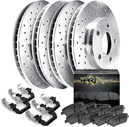 For Chrysler 200 Jeep Pair Set of 2 Rear Solid /& Coated Disc Brake Rotors Brembo