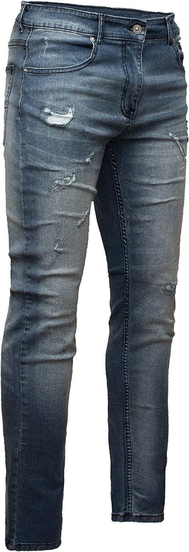 Crone Primo Basic Herren Jeans Hose Stretch Washed Slim Fit Jeanshose