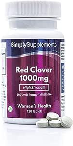 Trébol Rojo 1000mg - ¡Bote para 4 meses! - Apto para veganos - 120 Comprimidos - SimplySupplements