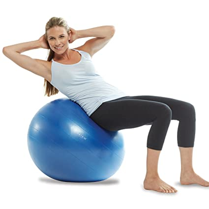 Gaiam Total Body Balance Ball Kit - Includes Anti-Burst Stability Exercise Yoga Ball