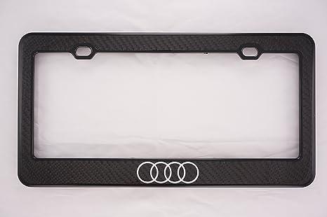 Audi Plate Frame >> Audi Carbon Fiber License Plate Frame Front Only