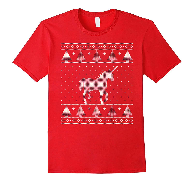 Unicorn Ugly Christmas Sweater Shirt, Funny Holiday Gift-T-Shirt