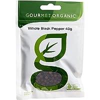 Gourmet Organic Herbs Pepper Black Whole, 40 g