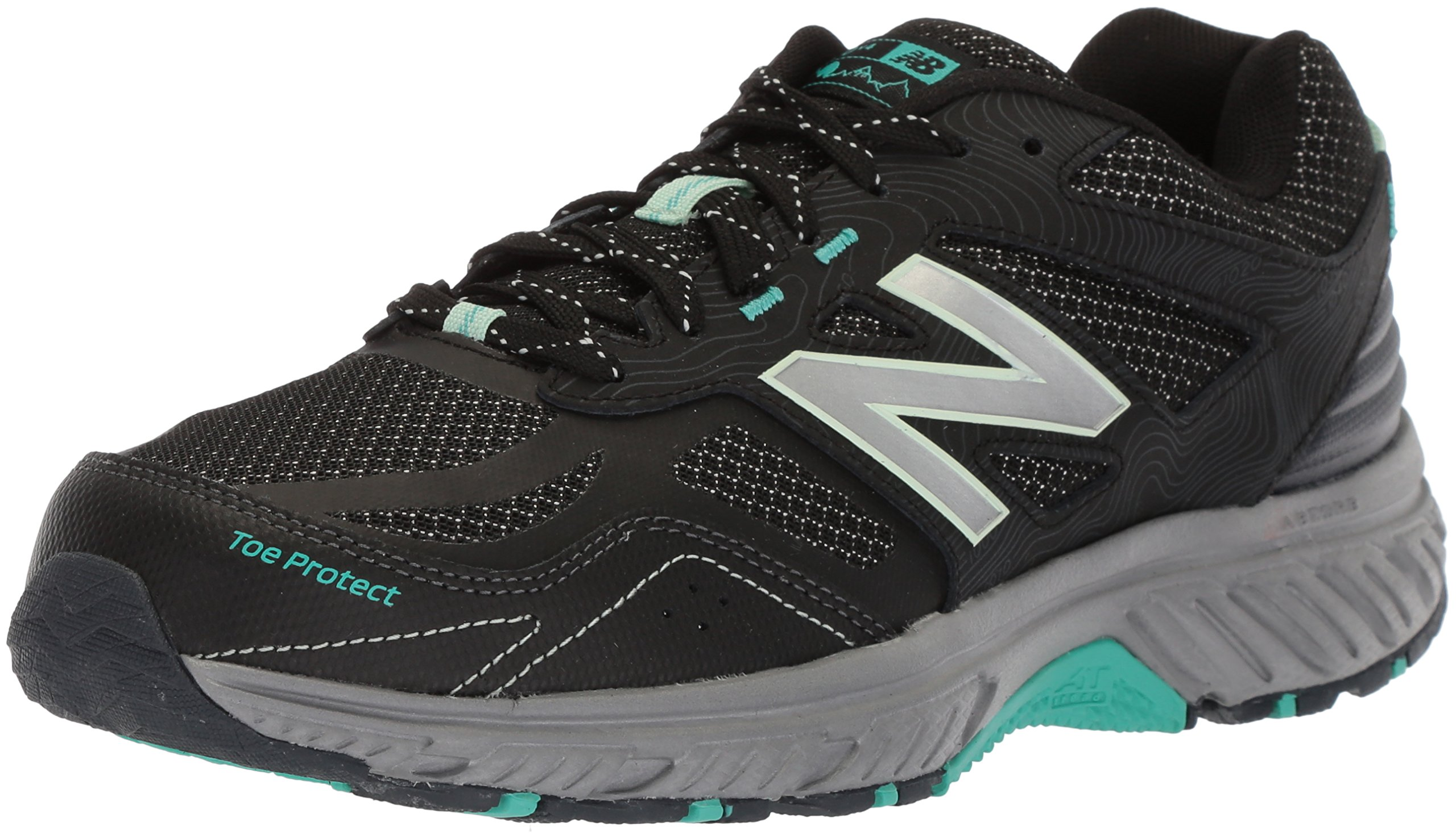 New Balance Women's 510v4 Cushioning Trail Running Shoe, Black, 9 D US