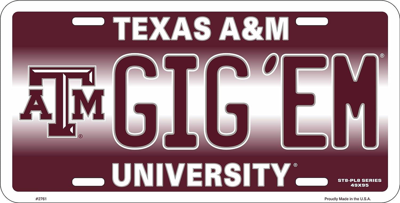 HangTime GIG 'EM Texas A & M Novelty License Plate Tag City Auto tag