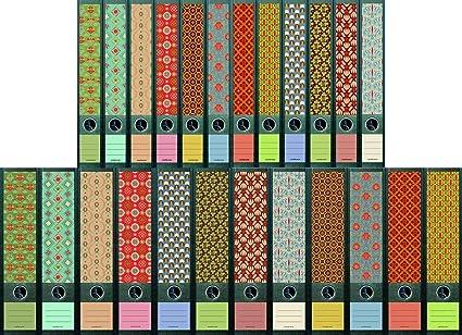 """File Art – Diseño Pegatinas para 12 Grandes + 12 fino A4 Archivos – tema"""""""