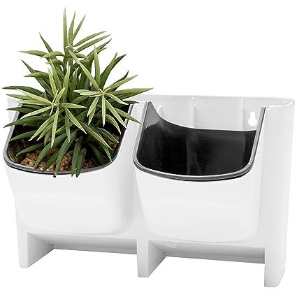 58276dcb5 Amazon.com  MyGift Vertical Living Wall Planter for Indoor Outdoor Herb  Vegetable Flower Garden Plastic Pot