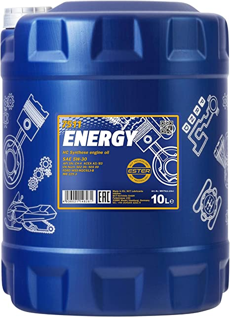 Mannol 1 X 10l Energy 5w 30 Motorenöl Hc Synthese Auto