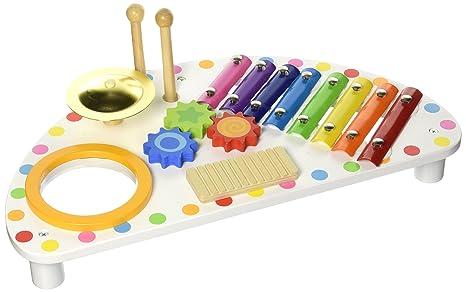 Holzspielzeug Xylophon Deluxe aus Holz Instrument Musik Musikinstrument Musiktisch Xylofon