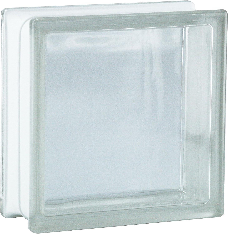 5 pi/èces FUCHS briques de verre vue compl/ète incolore 19x19x8 cm
