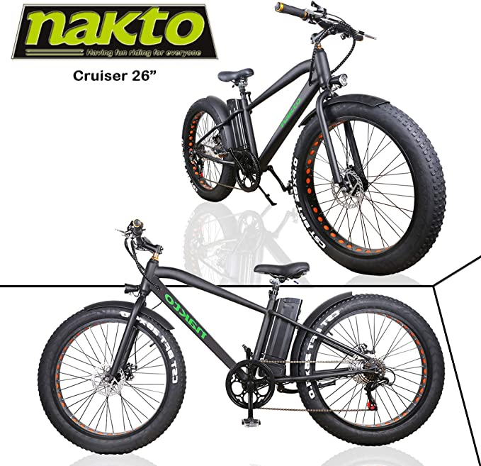 Nakto Bicicletas eléctricas para Adultos de 26 Pulgadas para ...