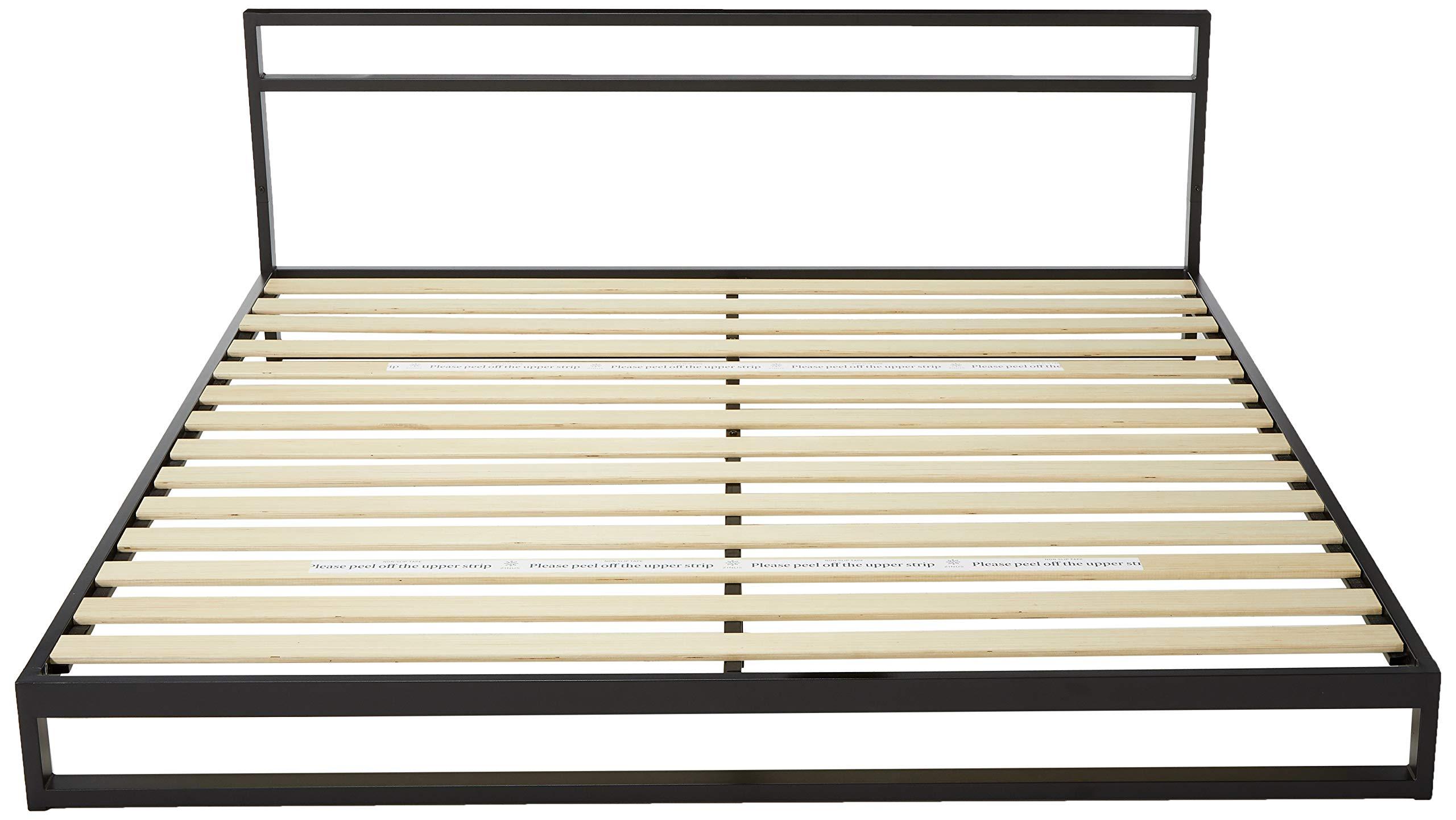 Zinus Trisha 7 Inch Heavy Duty Low Profile Platforma Bed Frame / Mattress Foundation / Box Spring Optional / Wood Slat…