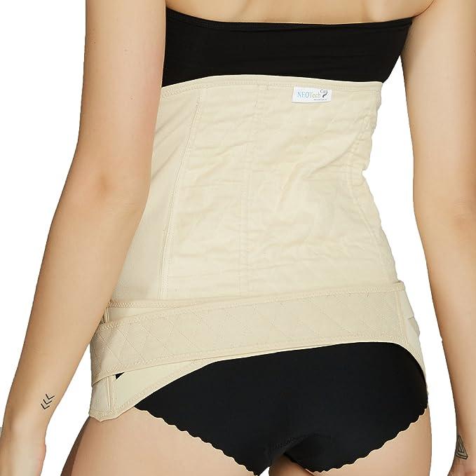 Amincissante Gaine post partum avec ceinture pelvienne//bassin Marque Neotech Care Coton voir description ventre plat Taille L Couleur blanche