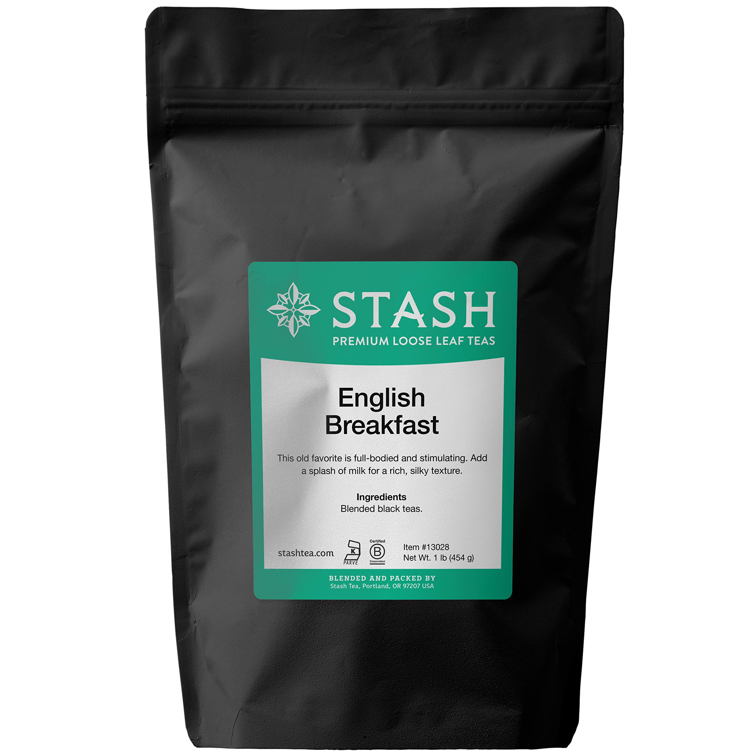 Stash Tea English Breakfast Loose Leaf Tea 16 Ounce Loose Leaf Premium Black Tea for Use with Tea Infusers Tea Strainers or Teapots, Drink Hot or Iced, Sweetened or Plain