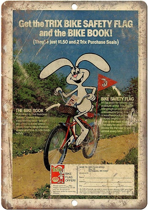 Decorative Vintage Retro Metal Sign Trix Cereal Safety Flag ...