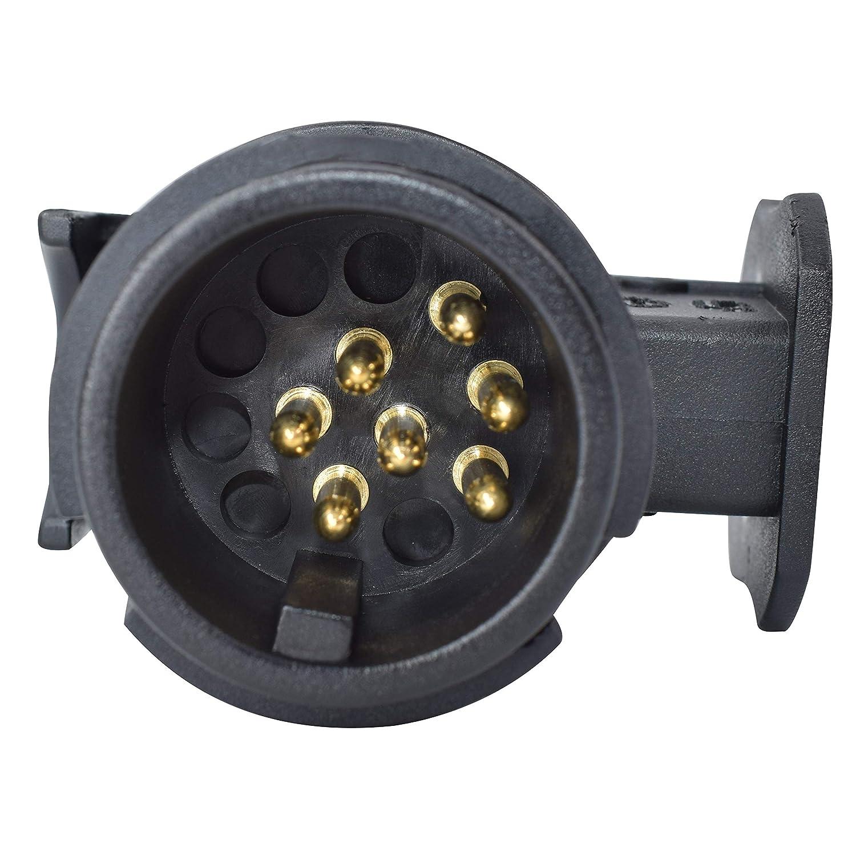 Magnetpro /étanche 13/vers 7/Broches Remorque Caravane /électrique Adaptateur Barre dattelage de remorquage Socket