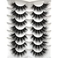 Pooplunch False Eyelashes Faux Mink Lashes Pack 7 Pairs Fluffy 8D Dramatic Fake Eyelashes Wispy Cat Eye Style Luxury…