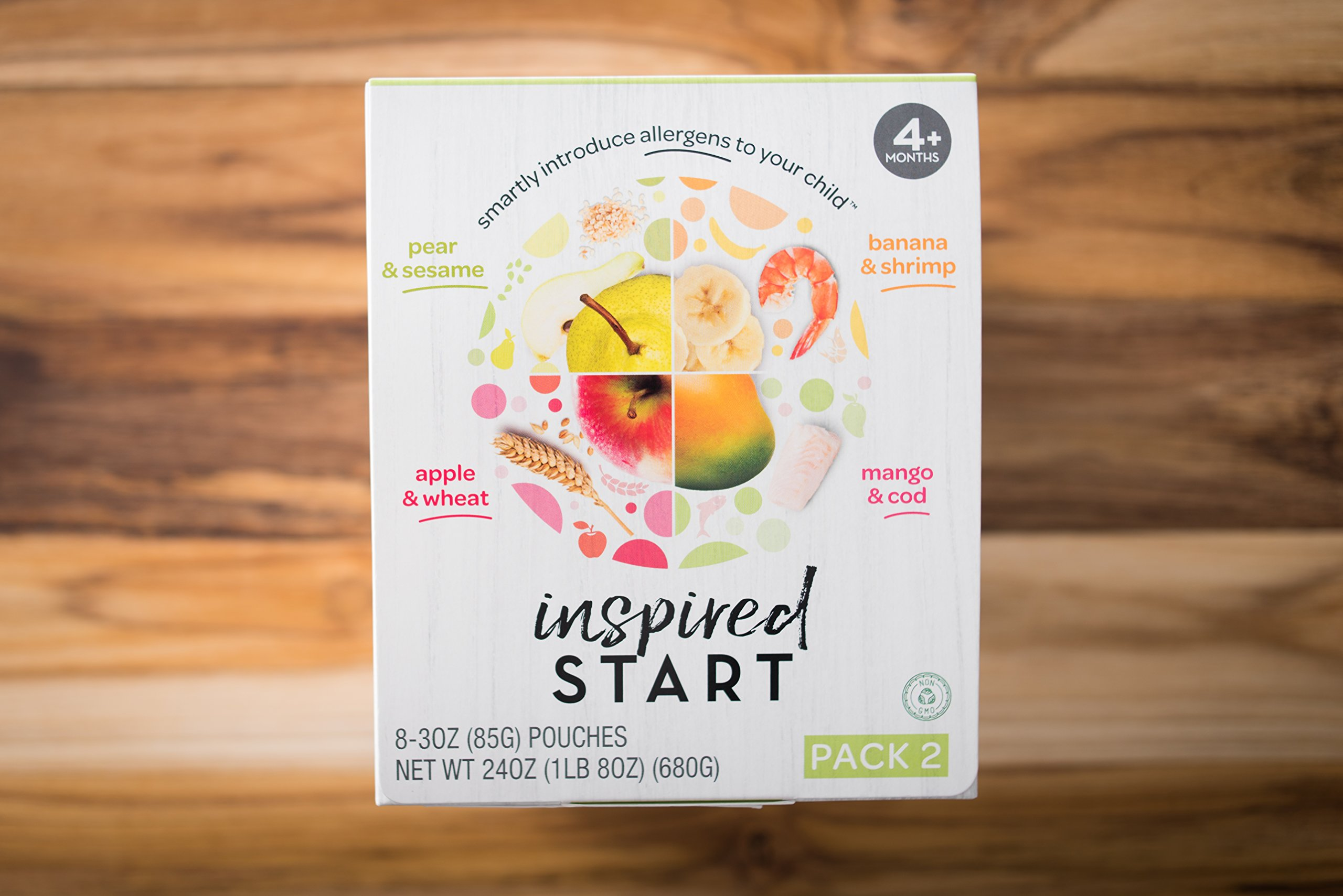 Early Allergen Introduction Baby Food: Inspired Start Pack 2, 3 oz. (Pack of 8 baby food pouches) - Non-GMO, include wheat, sesame, shrimp and cod in baby's diet by Inspired Start (Image #3)