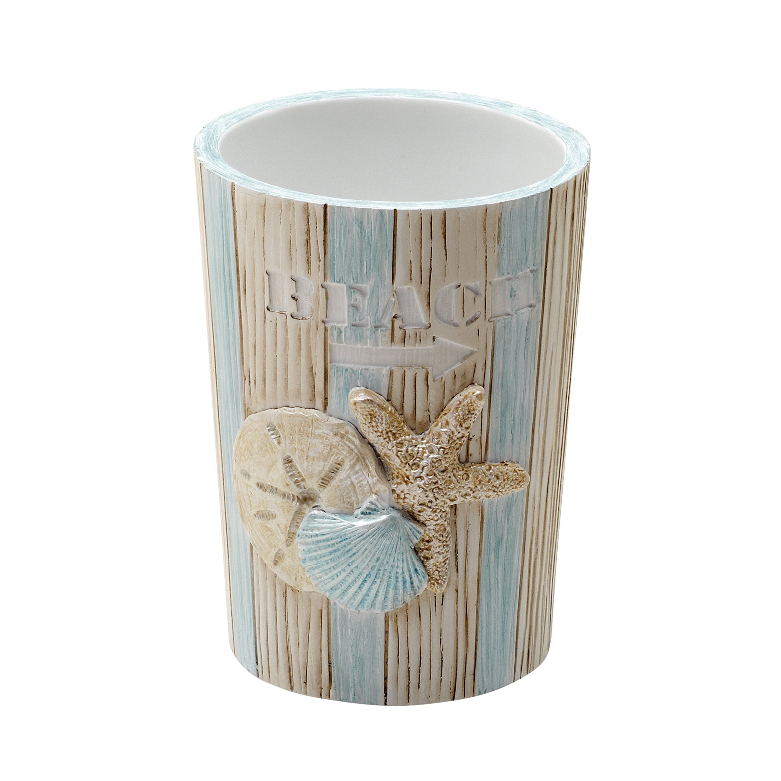 Zenna Home Seaside Serenity Tumbler, Teal/Ivory