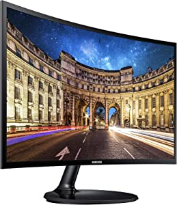 Samsung LC24F390FHNXZA 24-inch Curved LED Gaming Monitor (Super Slim Design), 60Hz Refresh Rate w/AMD FreeSync Game Mode