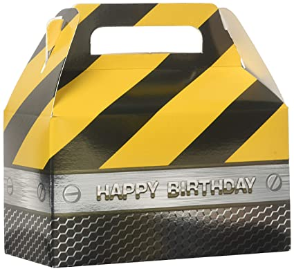 Construction Zone Party Treat Boxes 2 Ct