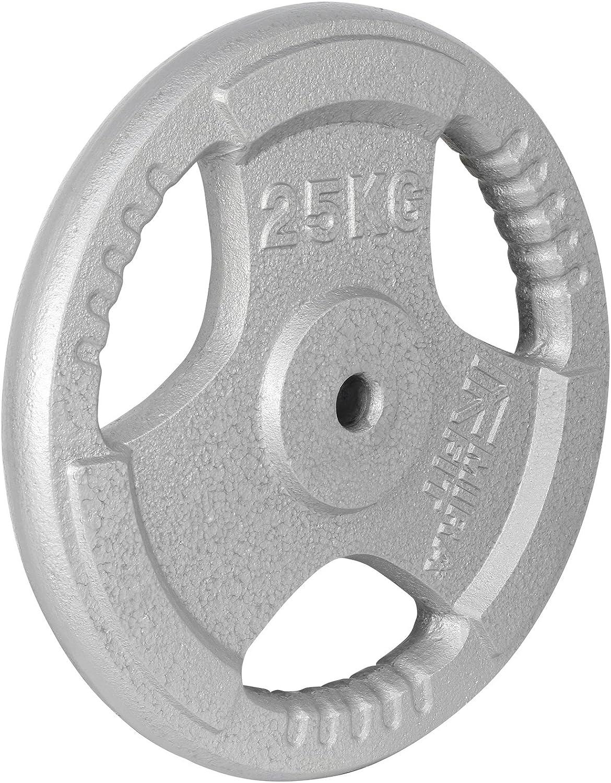 MiraFit Disques de Poids Tri Grip Standard 25mm en Fonte Choix de Taille