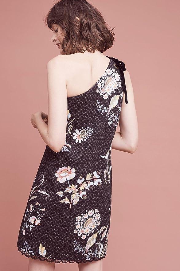Maeve Ashbury One-Shoulder Dress, Black Multi, 0 at Amazon Womens Clothing store: