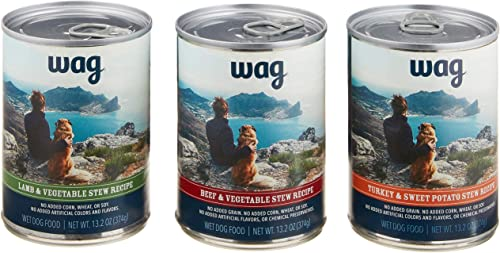 Amazon Brand – Wag Wet Canned Dog Food 12.5 13.2 oz