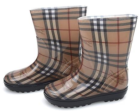 Art Mädchen Kind Gummistiefel Burberry Boots Haymarket H29EDI
