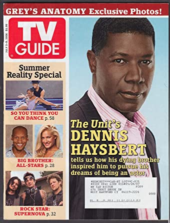 Tv Guide Dennis Haysbert Greys Anatomy Big Brother 73 79 2006 At