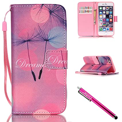 100% authentic 67092 9059f iPhone 5S Case, iPhone 5 Wallet Case, Firefish [Kickstand] PU Leather Flip  Purse Case Slim Bumper Cover with Lanyard Magnetic Skin for Apple iPhone ...