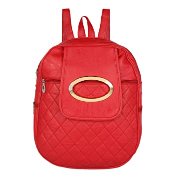 db300af00ef9 Rajni Fashion PU Leather Backpack School Bag Student Backpack Tuition Bag  Women Travel Bag (8L) Red  Amazon.in  Bags